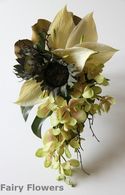 Silk Wedding Flowers 67 New Modern earth tone teardrop