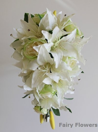 Silk Wedding Flowers 0 Epic Modern earth tone teardrop
