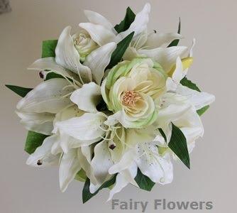 Silk Wedding Flowers 19 Nice white lily u rose