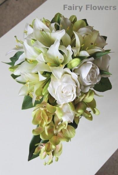 Silk Wedding Flowers 90 Great lily rose orchids teardrop