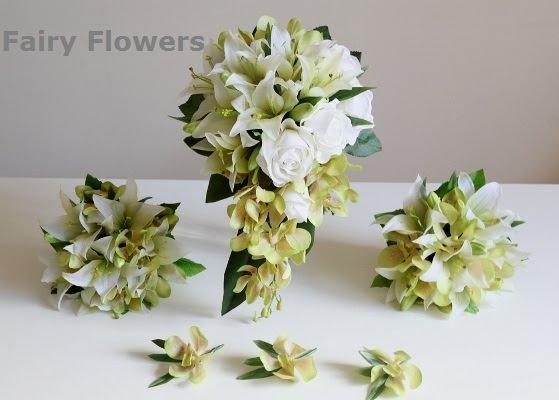 Silk Wedding Flowers 43 Epic White u Green Wedding