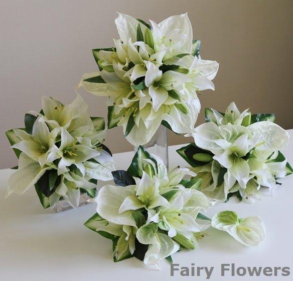 Silk Wedding Flowers 93 Beautiful Lily u anthiriums wedding