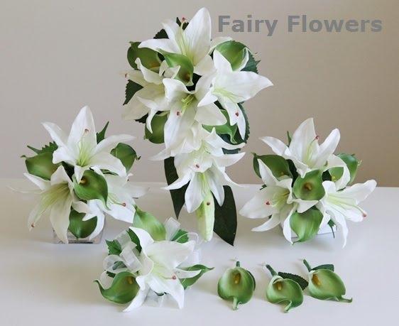 Silk Wedding Flowers 47 Superb Lily u calla wedding