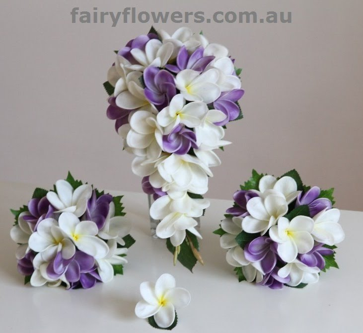 Silk Wedding Flowers 8 Great real touch purple white