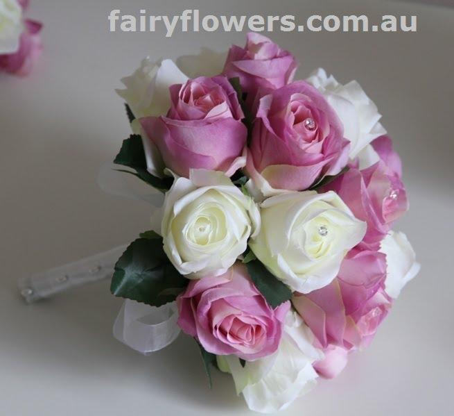 Silk Wedding Flowers 72 Trend white mauve rose bouquet