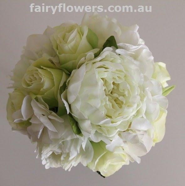Silk Wedding Flowers 76 Luxury peony u rose teardrop