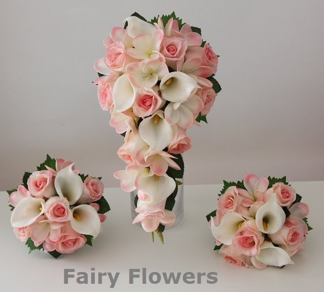 Silk Wedding Flowers 48 Ideal Real touch Pale pink