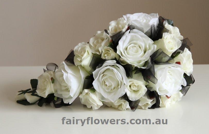 Silk Wedding Flowers 46 Stunning rose teardrop bridal bouquet