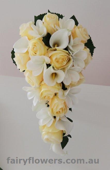 Silk Wedding Flowers 85 Cute Rose calla frangipani teardrop