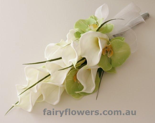 Silk Wedding Flowers 15 Elegant Calla lily u orchid