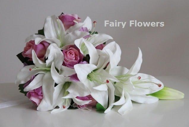 Silk Wedding Flowers 10 Good Lily rose teardrop bridal