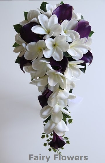 Silk Wedding Flowers 30 Stunning calla lily frangipani teardrop