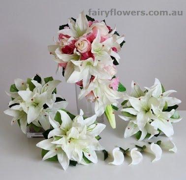 Silk Wedding Flowers 34 Lovely wedding flower set Package