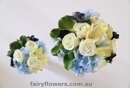 Silk Wedding Flowers 1 Cool rose calla frangipani hydrangea