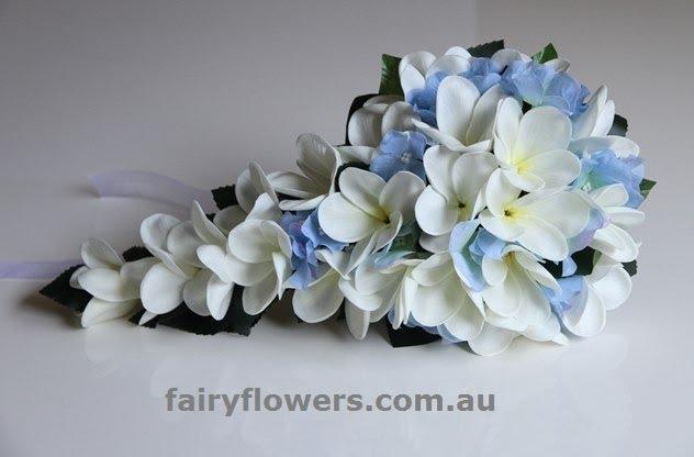 Silk Wedding Flowers 25 Elegant frangipani hydrangea trail bridal