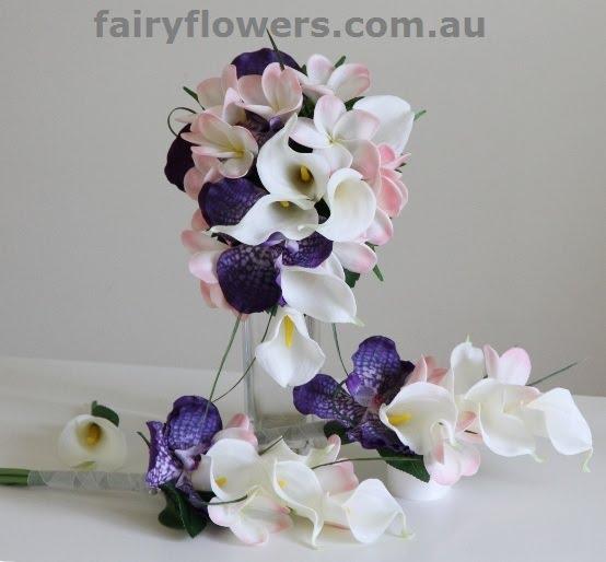 Silk Wedding Flowers 68 Ideal calla lily orchids teardrop